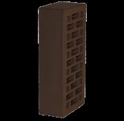 Кирпич облицовочный одинарный, М-150 (Шоколад) 42% пустотности