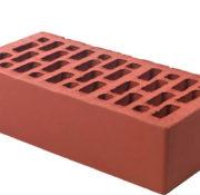 Кирпич облицовочный светло-бордовый гладкий 1 НФ